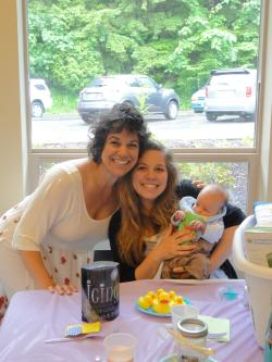 Susan Finch with Faithe and Baby James