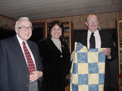 Burt D. Lynn, Susan Finch, Dr. Bryant Rossiter